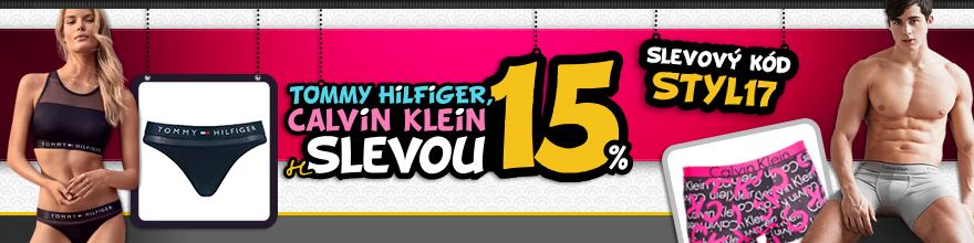 Calvin Klein a Tommy Hilfiger se slevou 15%