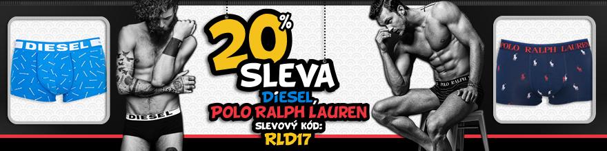 Polo Ralph Lauren a Diesel se slevou 20%